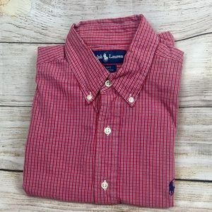 Men's SzM S/S Button Down Ralph Lauren Shirt 👔